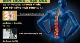 Biến chứng nguy hiểm từ bệnh thoát vị đĩa đệm cột sống lưng và cách chữa